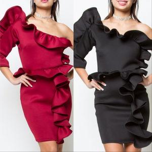 Dresses & Skirts - BURGUNDY or BLACK Party Dress